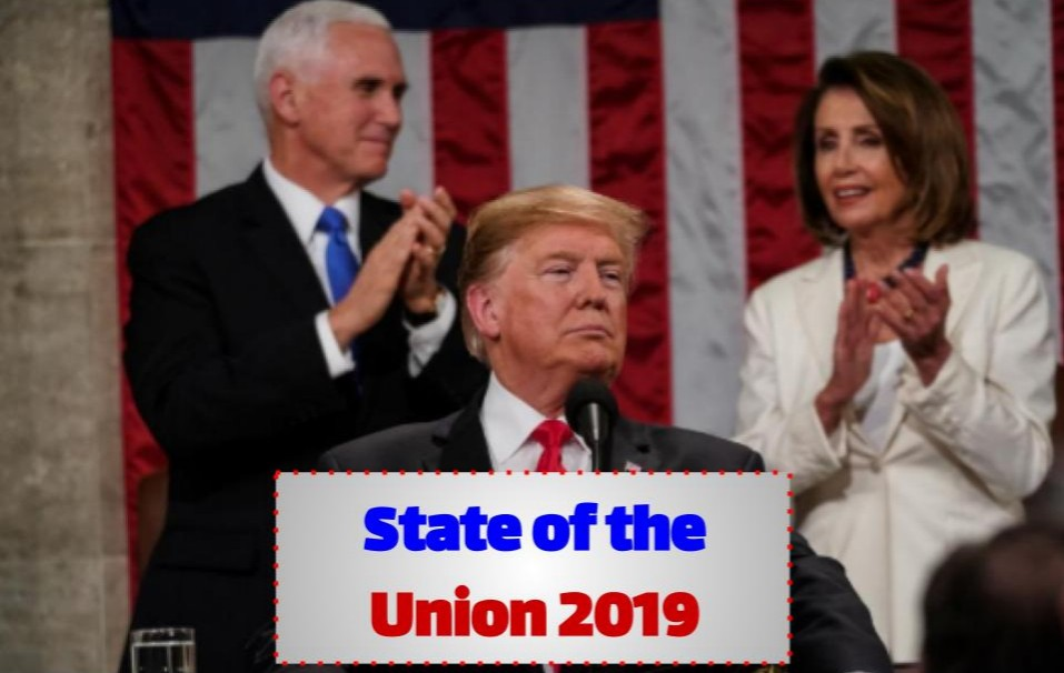 President Donald Trump delivered the State of the Union address on Feb. 5 2019 and called for a border wall and prison reform.