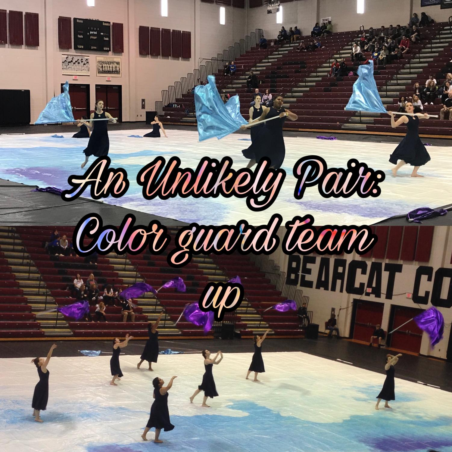 The winter guard performs their show to Lady Gaga's 'Million Reasons.' The team has worked tirelessly with their partner school, Reagan, this season.