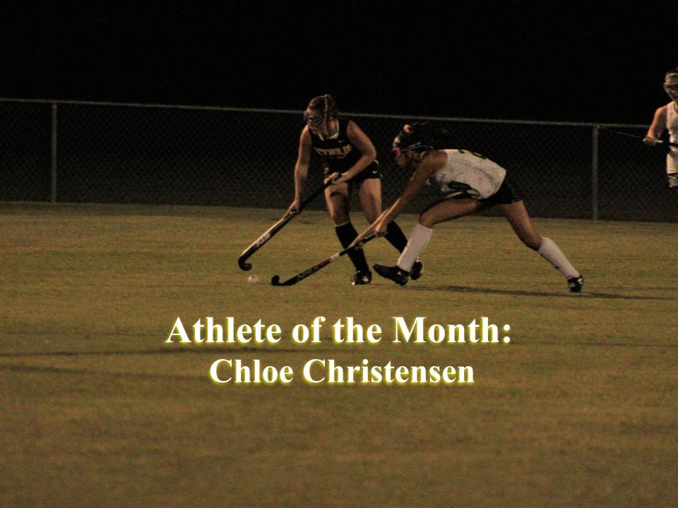 Chloe Christensen steals the ball. Her performance proved why she deserved to be athlete of the month.