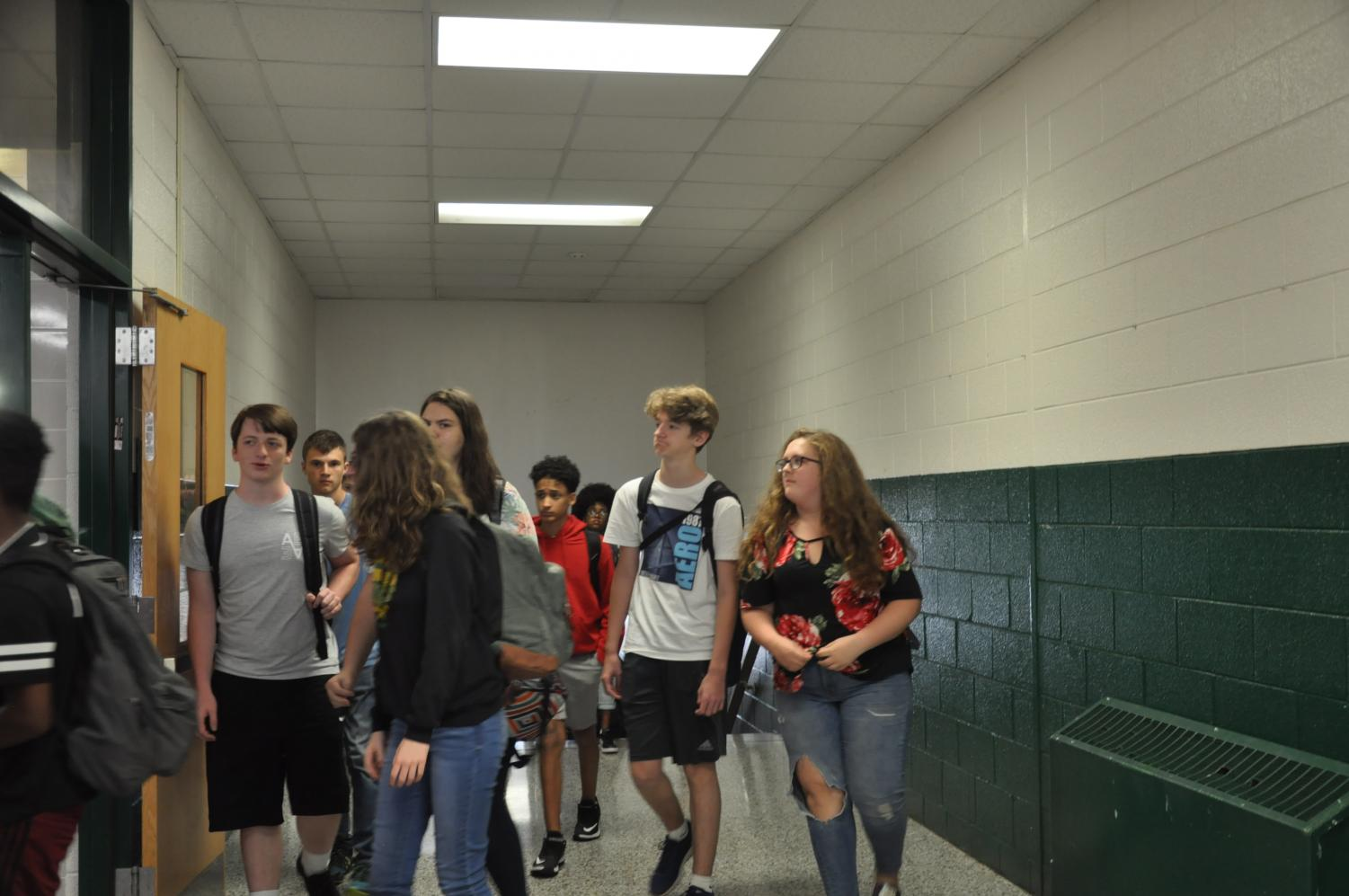 Students show off what they wear while walking to lunch. What kind of impression did your first day outfit give off?