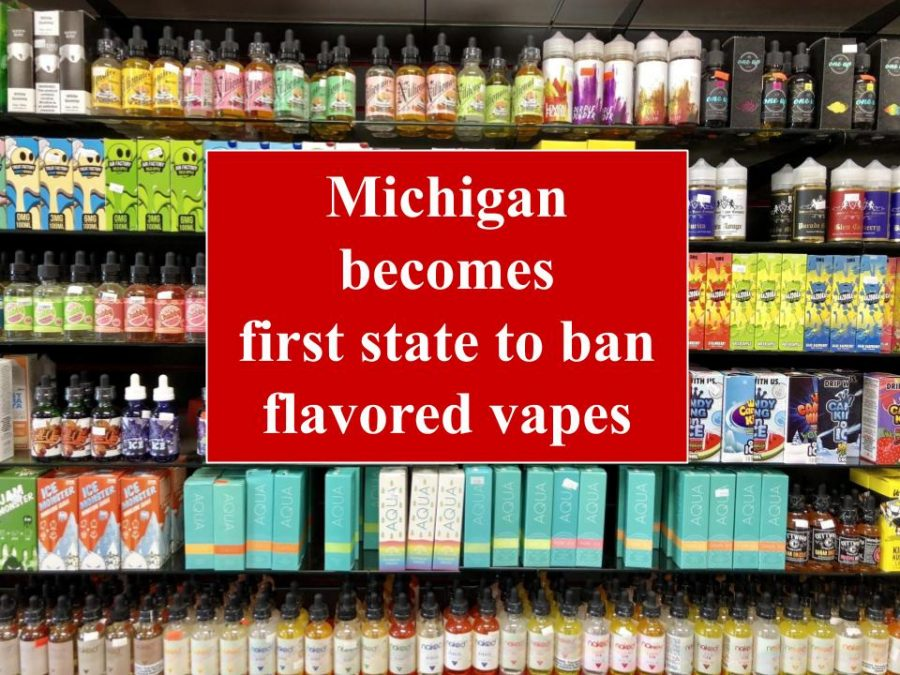 Michigan becomes first state to ban flavored vapes