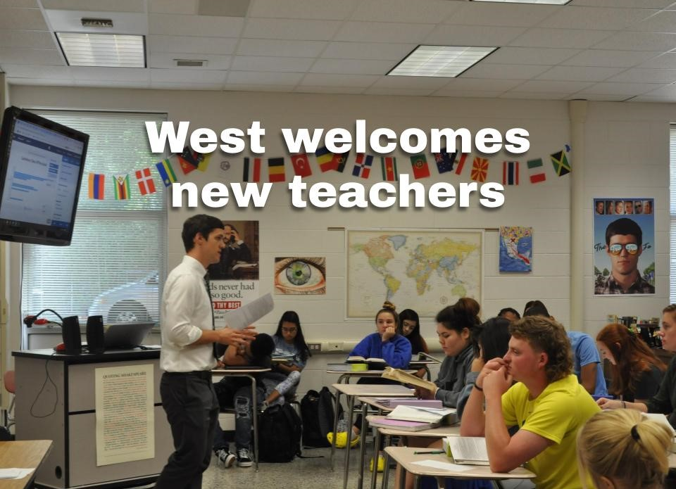 Stephen Langford teaches one of his English IV classes in the afternoon. West as welcomed a handful of new teachers this school year.