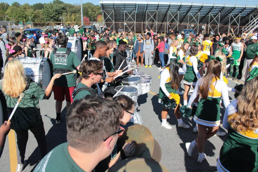 The Marching Band brings music to the ears of those attending the parade.