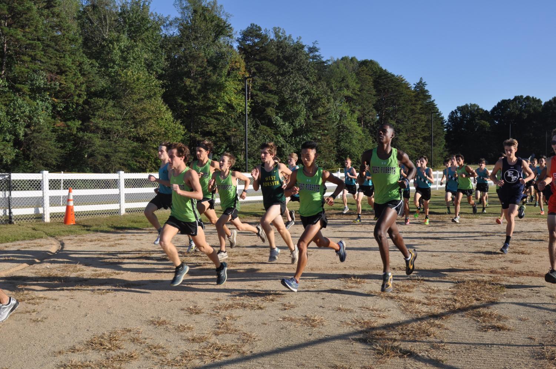 Okon competing in a race. The team has seen improvement since adding Okon  this season.