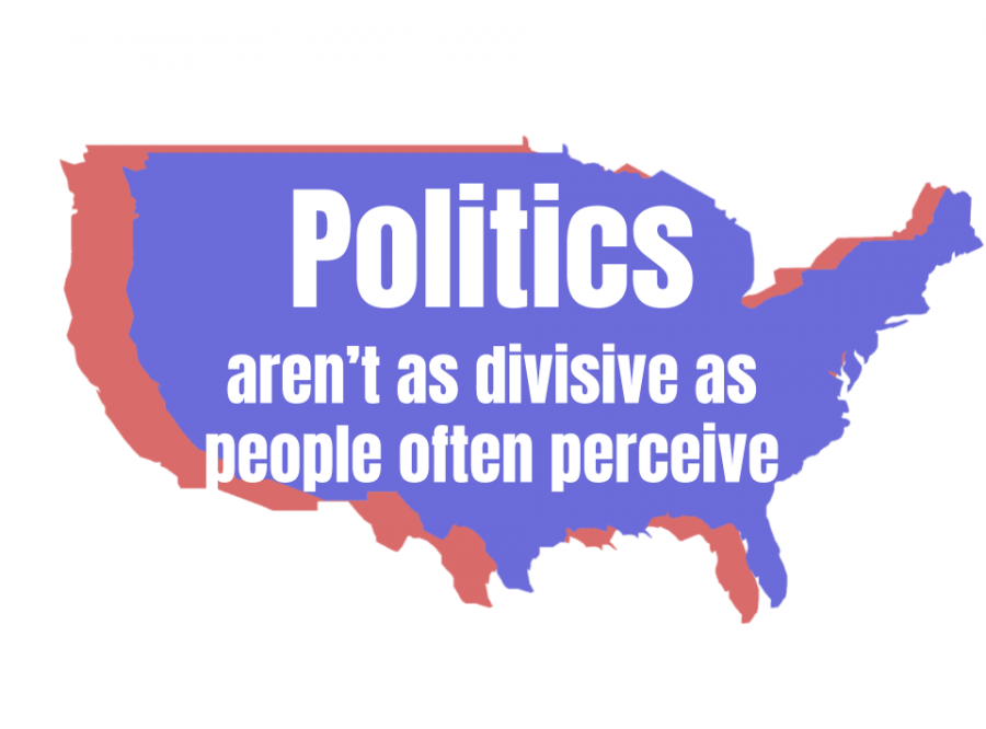 Politics aren't as divisive as people often perceive