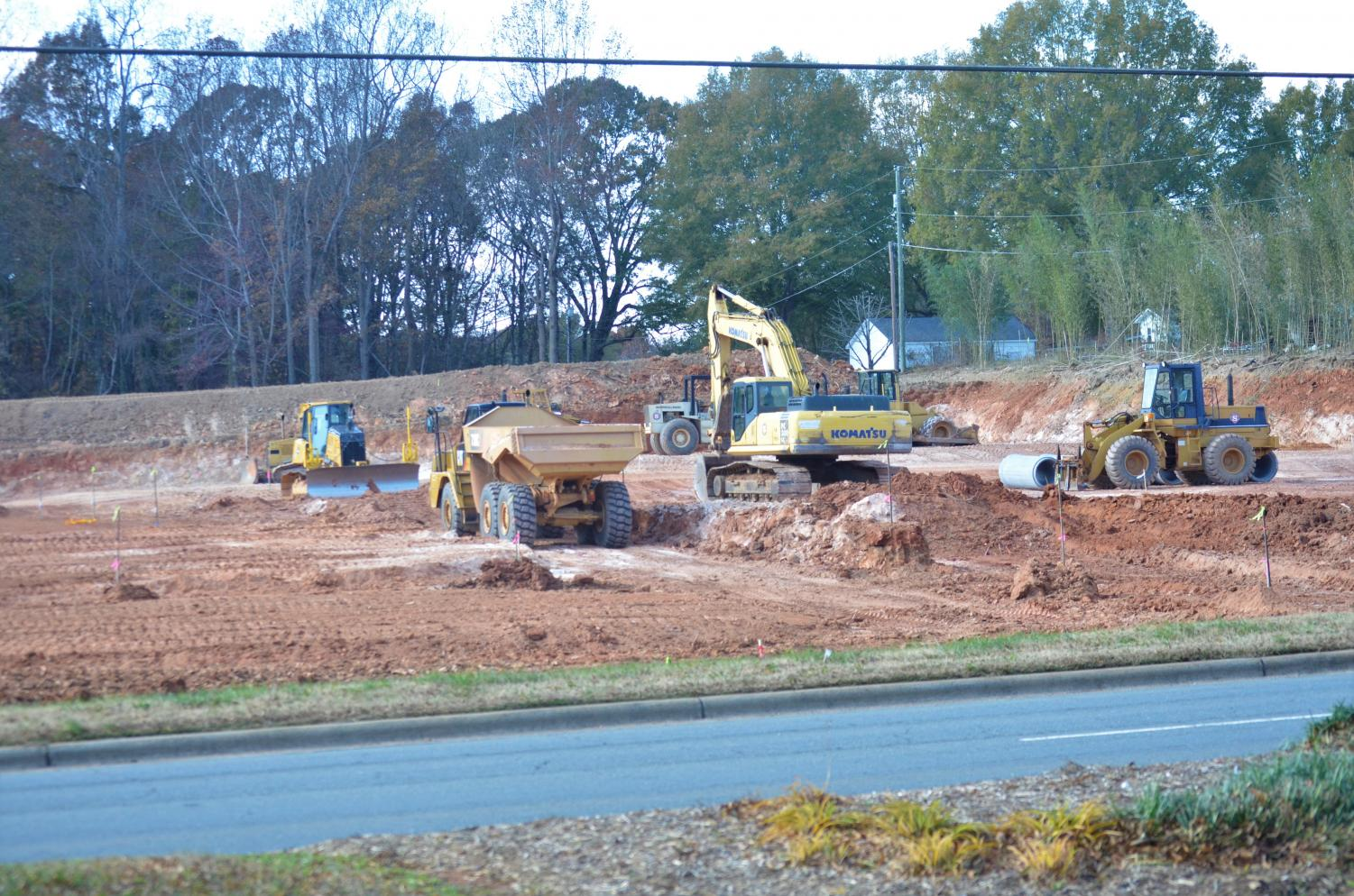Construction is underway in the development across from West's campus.