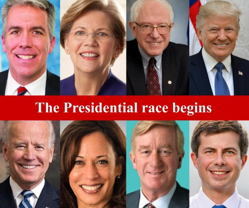 Several+candidates%2C+both+democratic+and+republican%2C+are+gearing+up+for+the+2020+election.+Here+are+some+of+the+front-runners.