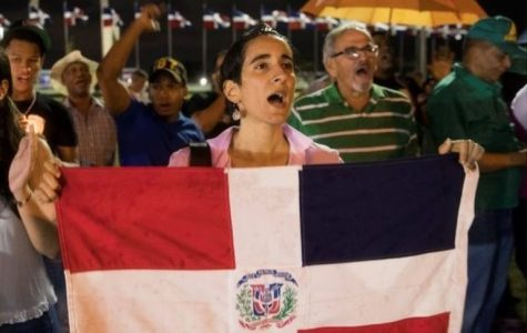 People of the Dominican Republic take to the streets to protest the recent ban on their voting.