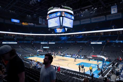 Bleachers left empty as COVID-19 has led to the closure of all sporting events across the country. The Oklahoma City Thunder had to cancel their home game against the Utah Jazz after a Jazz player tested positive with COVID-19.