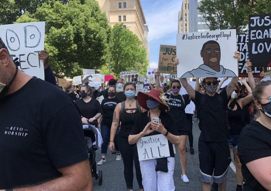 Local protestors rally in downtown Winston- Salem to support the Black Lives Matter movement. Rallying is one of the best ways to promote a cause you support.