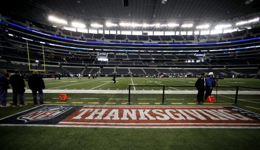 Every holiday season, the National Football League plays three football games on thanksgiving day.