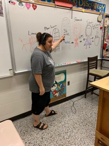 Since shifting to online learning, teachers are going above and beyond for their students. Bryant makes learning fun for her English II honors class.
