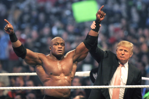 Trump makes his debut in all-star event WrestleMania. Politics should not be treated as sporting events.