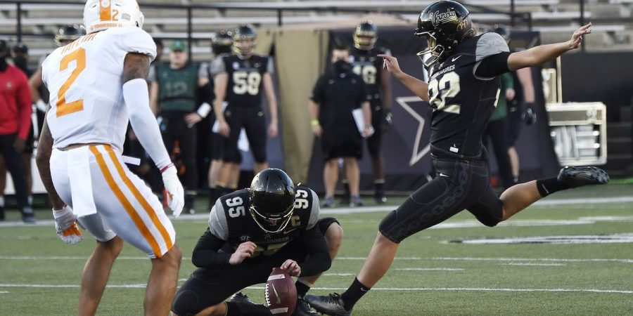 Sarah Fuller strikes between the uprights twice in Vanderbilt's matchup against Tennessee. Fuller joined special company as one of the few women to score in an NCAA football game.