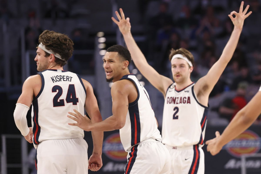 Gonzaga+led+by+Jalen+Suggs%2C+Corey+Kispert+and+Drew+Timme+are+looking+to+bring+home+the+first+national+championship+in+school+history.+