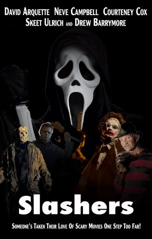 A photo collage of all the main characters in the Slasher movies are quite a sight to behold.
