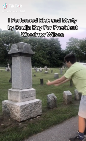 There are many variations of the Rick and Morty TikTok trend, where creators perform the popular rap to deceased figures such as Woodrow Wilson and poet Sylvia Path.